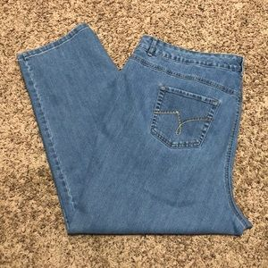 Just My Size Stretch Classic Denim Jeans 26W Short